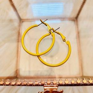 Jewelry - Yellow Hoop Earrings